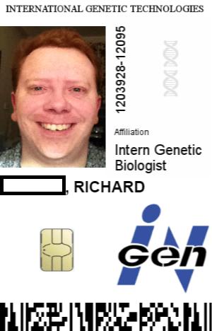 Genetic Biologist ID badge