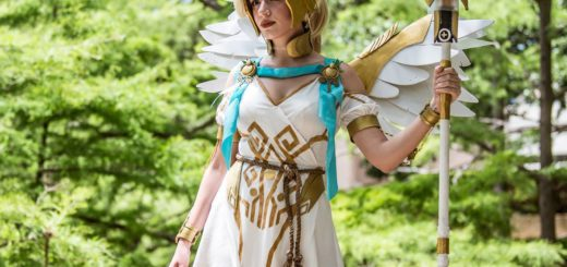 Photo of Alizorah as Winged Victory Mercy taken by Eric Wideman