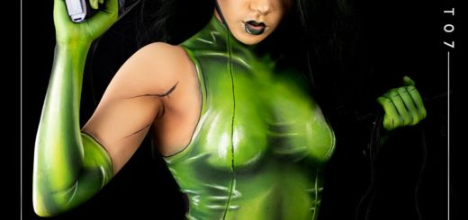 Photo of MCroft07 bodypainted as Viper Photo taken by Ghost @ry_lee99